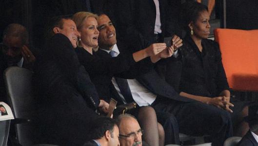 Cameron Obama Schmidt selfie och  undergången för västvärlden