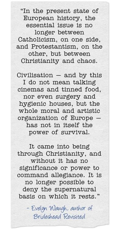 E-Waughn - on christianity and europe