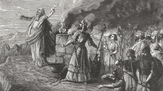 Balak's Offering (Numbers 23, 6-7), wood engraving, published in 1886